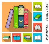 book bound flat icons in set... | Shutterstock .eps vector #1180794151
