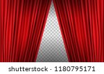 opening realistic red curtain... | Shutterstock .eps vector #1180795171