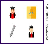 degree icon. thermometer and... | Shutterstock .eps vector #1180802047