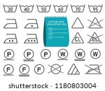 laundry symbols set  signs for...   Shutterstock .eps vector #1180803004