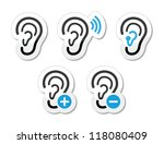 ear hearing aid deaf problem... | Shutterstock .eps vector #118080409