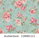 seamless cute vintage tiny... | Shutterstock .eps vector #118081111