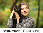 summer sunny photo of teenager... | Shutterstock . vector #1180819141
