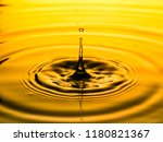 close up of a drop oil on a... | Shutterstock . vector #1180821367