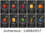 fruit and berries labels set... | Shutterstock .eps vector #1180826917