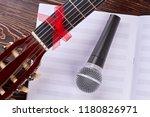 guitar  notes sheet and... | Shutterstock . vector #1180826971