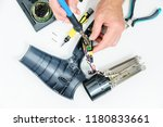 hairdryer in a disassembled...   Shutterstock . vector #1180833661