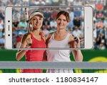 successful sportswomen with...   Shutterstock . vector #1180834147