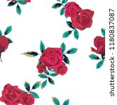seamless pattern with flowers... | Shutterstock .eps vector #1180837087