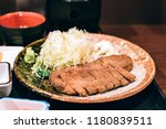 deep fried beef in tokyo  fried ...   Shutterstock . vector #1180839511