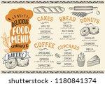 bakery menu template for...   Shutterstock .eps vector #1180841374