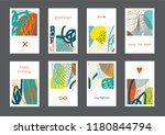 set of creative universal... | Shutterstock .eps vector #1180844794