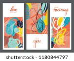 set of creative universal... | Shutterstock .eps vector #1180844797