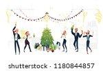 vector cheerful young men ... | Shutterstock .eps vector #1180844857