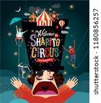 circus  vector illustration on... | Shutterstock .eps vector #1180856257