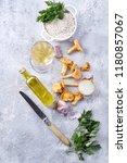 ingredients for mushroom... | Shutterstock . vector #1180857067