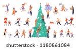 bundle for christmas sale.... | Shutterstock .eps vector #1180861084