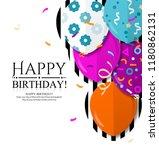 happy birthday invitation card... | Shutterstock .eps vector #1180862131