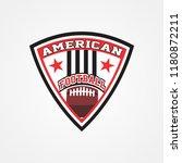 american football logo template | Shutterstock .eps vector #1180872211