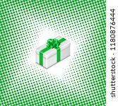 gift box with ribbon and bow on ...   Shutterstock .eps vector #1180876444