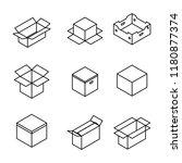 set of different cardboard...   Shutterstock .eps vector #1180877374