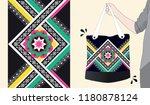 ethnic pattern design for... | Shutterstock .eps vector #1180878124