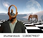 surrealism. faceless... | Shutterstock . vector #1180879837