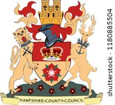 coat of arms of hampshire is a... | Shutterstock .eps vector #1180885504