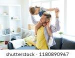 cheerful man in casualwear... | Shutterstock . vector #1180890967