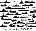 set of 35  thirty five ... | Shutterstock .eps vector #118089529