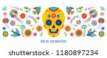 day of the dead  dia de los... | Shutterstock .eps vector #1180897234
