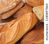 pastries closeup in the market | Shutterstock . vector #1180897864