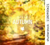 modern fall background. blurred ... | Shutterstock .eps vector #1180900621