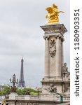 the alexandre iii bridge in... | Shutterstock . vector #1180903351