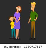 single parent mother with... | Shutterstock .eps vector #1180917517