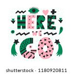 bright graphic here we go... | Shutterstock .eps vector #1180920811