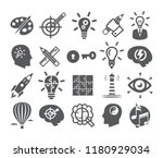 creativity icons set. icons for ... | Shutterstock .eps vector #1180929034