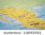 mexico on the map | Shutterstock . vector #1180929301