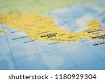 mexico on the map | Shutterstock . vector #1180929304
