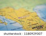 mexico on the map | Shutterstock . vector #1180929307