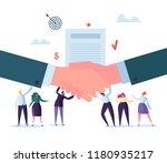 handshake business agreement.... | Shutterstock .eps vector #1180935217