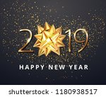 2019 number happy new year... | Shutterstock .eps vector #1180938517