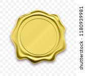 gold stamp wax seal approval... | Shutterstock .eps vector #1180939981