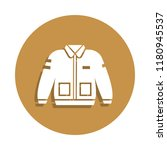bomber jacket clothing icon in...
