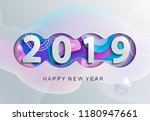 2019 creative happy new year... | Shutterstock .eps vector #1180947661