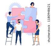 flat design puzzle vector ... | Shutterstock .eps vector #1180948621