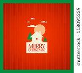 Christmas card design template. - stock vector