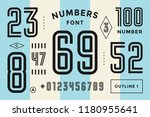 numbers font. sport font with... | Shutterstock .eps vector #1180955641
