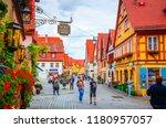 rothenburg ob der tauber ... | Shutterstock . vector #1180957057