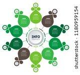 circular infographics. eco... | Shutterstock .eps vector #1180959154